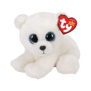 TY Beanie Babies Knuffel IJsbeer 15 cm.