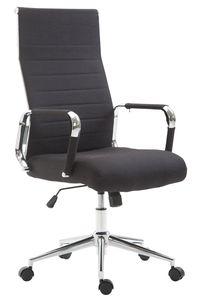 CLP Bürostuhl Kolumbus Stoff höhenverstellbar und drehbar, Farbe:schwarz
