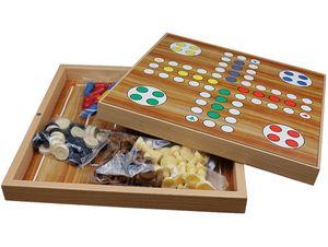 5 in 1 Spielesammlung Mühle, Dame, Ludo, Backgammon, Schach
