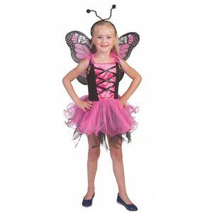 Kinderkostüm Schmetterling pink, Größe:116