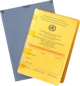 """Impfpasshülle Einsteckhülle passend für den """"alten"""" internationalen Impfausweis im Format: 105 x 148 mm - 2er Pack"""