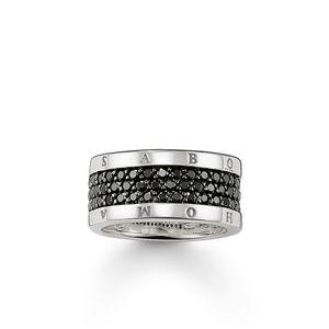 Thomas Sabo TR1710-051-11 Eternity-Ring Classic Schwarz Silber Gr. 56