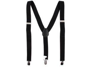 Hosenträger bunt mit 3-Clips Y-Form Karneval Fasching, Variante wählen:schwarz