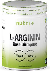 L-ARGININ BASE PULVER 500g - höchste Dosierung - pflanzlich durch Fermentation - reines L-Arginine Powder - Vegan - Neutral - ohne Zusatz -
