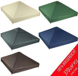 freigarten.de Ersatzdach für Pavillon 3x3 Meter Wasserdicht Material: Panama PCV Soft 370g/m² extra stark Modell 2 (Anthrazit)