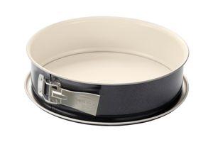 Dr. Oetker Springform Ø 28 cm BACK-TREND, Kuchenform mit Flachboden, runde Backform aus Stahl mit keramisch verstärkter Antihaft-Beschichtung (Farbe: creme/anthrazit), Menge: 1 Stück