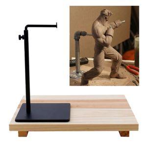 Ton Rohr Halterung Skulptur Gerüst Keramik Ton Stand Halter Rack Unterstützung mit Holz Bord Basis für DIY Keramik Keramik Modell werkzeug Liefert Schwarz Tonwarenständer 30 x 24 x 3,4 cm