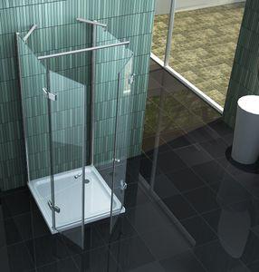 U-Duschkabine CONFINO 90 x 75 x 195 cm ohne Duschtasse