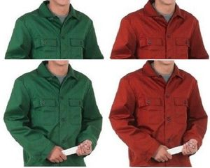 2 x Arbeitsjacke grün / rot Blaumann Jacke Berufskleidung Berufsjacke -Größe: XL - Farbe: Rot