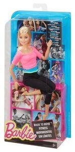 MATTEL DHL82 Barbie Made to Move Puppe mit pinkfarbenem Top