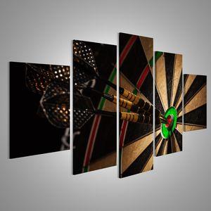 islandburner Bild Bilder auf Leinwand Drei Dart im Bullenauge in der Nähe Verschiedene Formate ! Direkt vom Hersteller ! Bilder ! Wandbild Poster Leinwandbilder ! FXB