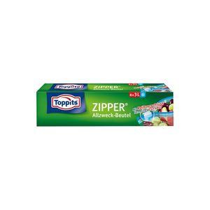 TOPPITS Zipper Allzweck-Beutel 8 x 3L (27 x 24cm)