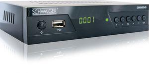 SCHWAIGER -DSR500HD- FULL HD Satellitenreceiver Free to Air (FTA), Schwarz