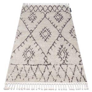 Teppich BERBER FEZ G0535 sahne / braun Franse berber marokkanisch shaggy zottig beige 120x170 cm