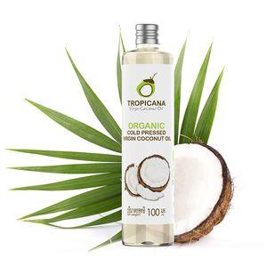 Tropicana Oil Kokosnussöl Extra Nativ in 100 ml 100% Vegan Kokosölfraktioniert KokosölNativ Kaltgepresst Für HAARE, HAUT, KOCHEN Glutenfrei Vegan Backen & Gesund Kochen