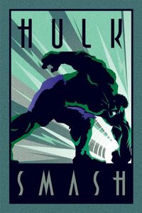 Pyramid Marvel Deco Hulk Poster 61x91.5cm.