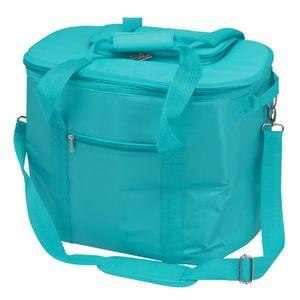 bremermann Kühltasche faltbar, Isoliertasche Picknicktasche 35 Liter Volumen, blau