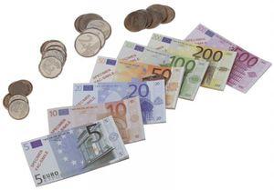 Kinder Kaufladen Spielgeld Kassenschublade mit Euro Geld Münzen