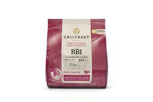 Callebaut RUBY Schokoladenkuvertüre, Callets  400 g