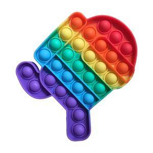 Push Pop It Pop Bubble Spielzeug,Verwendet für Autismus, Stress Abzubauen Braucht zappeln Spielzeug(Among Us)