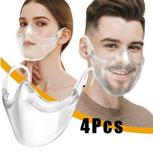 langlebiges klares Gesicht Mundschutzschild Kinder Einheitsgröße Visier Solide 4 Stück