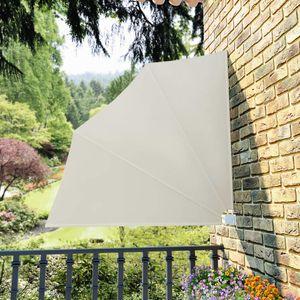 vidaXL Faltbarer Balkonfächer Creme 140×140 cm