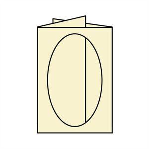 Rössler Papier - - Paperado-Karte Ft.B6 PP-oval, candle light - Liefermenge: 25 Stück