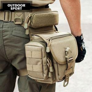 SanBenas Wasserdichte taktische militärische Beintasche für Herren Hüftgürtel Taille Gürteltasche Oxford Stoff Wandern Camping Outdoor Sportreisen
