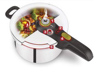 MEROUS-Perfekter Schnellkochtopf, Induktionsherd, 5 Liter Schnellkochtopf aus poliertem Edelstahl, geeignet für alle Kochmethoden,Dampfkochtopf
