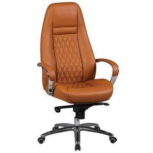 Bürostuhl AUSTIN Echt-Leder Caramel Schreibtischstuhl 120KG