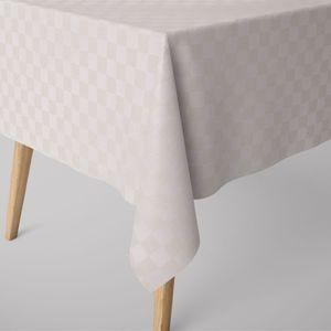 SCHÖNER LEBEN. Tischdecke Schachbrett natur weiß verschiedene Größen, Tischdecken Größe:130x200cm