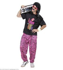 Kostüm 80er Jahre Fashion -  T-Shirt + Hose - Trainingsanzug 80 ties XL - 54/56