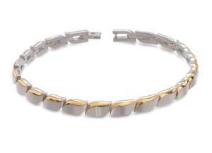 Boccia Damen Armband aus Titan 21cm in Bicolor - 03032-02