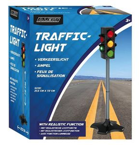 Alert Kinder Spielzeug Ampel Verkehrsampel Fußgängerampel mit Licht 72 cm