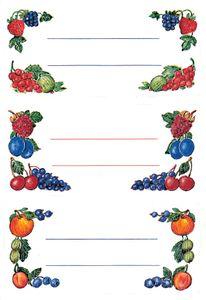 HERMA Haushalts Etiketten Beerenarrangements 76 x 35 mm 4 Blatt à 3 Etiketten