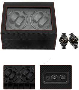 Automatische Uhrenbeweger Box Uhrenkasten Beweger Uhrenbox Wickelbox PolyurethanUhrengehäuse für 4 + 6 Uhren