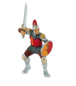 Bullyland 80765 - Figurine World, Ritter, Schwertkämpfer rot 4007176807651