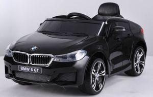 BMW 6er GT KINDER ELEKTRO AUTO KINDERFAHRZEUG SPORTWAGEN USB MP3 Eva Soft Reifen 12V Schwarz