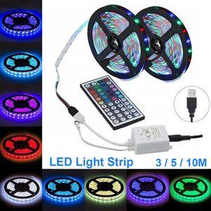 10M RGB LED-Lichtleiste Fernbedienung LED-Streifen Weihnachten Outdoor / Indoor KTV Hotel Terrace