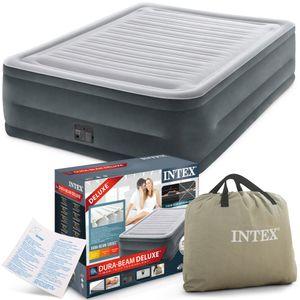 INTEX Luftbett 64418 King Size 152 x 203 x 56 cm eingebaute Pumpe Fiber Tech™ Technology