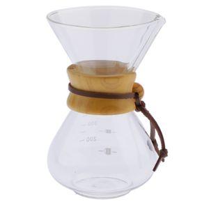 Hitzebeständige Glas Kaffeekanne mit Ausguss, 400ml
