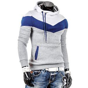 Männer Retro Langarm Hoodie Hooded Sweatshirt Tops Jacke Mantel Outwear HQL61107501 Größe:M,Farbe:Grau
