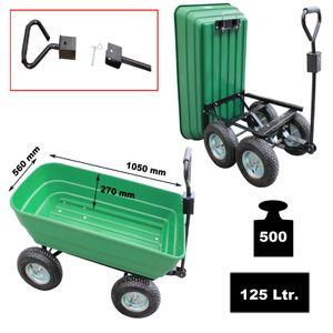 Gartenwagen mit Kippfunktion 400 kg Bollerwagen kippbar Transportwagen Anhänger
