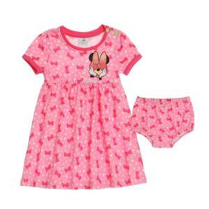 Disney Minnie Kleid mit Höschen, rosa, Gr. 62-92 Größe - 80