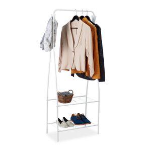 relaxdays Kleiderständer mit 2 Ablagen