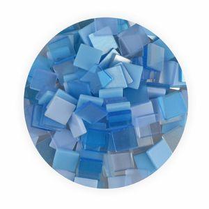 Creleo - Mosaiksteine 10x10mm blau 190 Stück 45 g