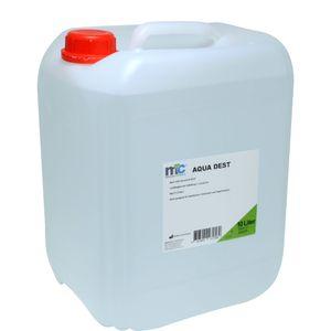 Medicalcorner24 Destilliertes Wasser AQUA DEST, unsteril und mikrofiltriert, 10 Liter