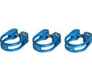Sattelstützenschelle Blau 34,9 Blau, Alu, Lightweight Design