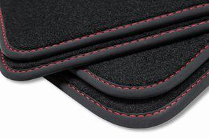 Premium Fußmatten für VW Golf 5 6 Scirocco 3 GTI R  2008-, Naht:Rot