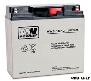 MW-Power AGM GEL Batterie MWS-18-12 VRLA 12V 18Ah (C20) baugleich 17Ah 20Ah
